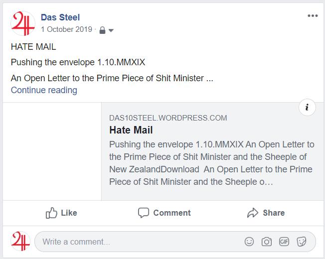 Open letter Fb grab